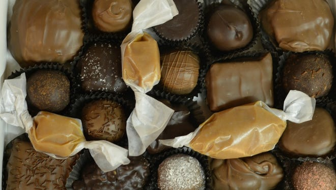 There are 100 varieties of chocolate at Grandpa Joe's Chocolates and many are made fresh daily (beginning at 3 a.m.).