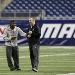 Northern Illinois practice Dec. 5, 2013, at Ford Field in Detroit.