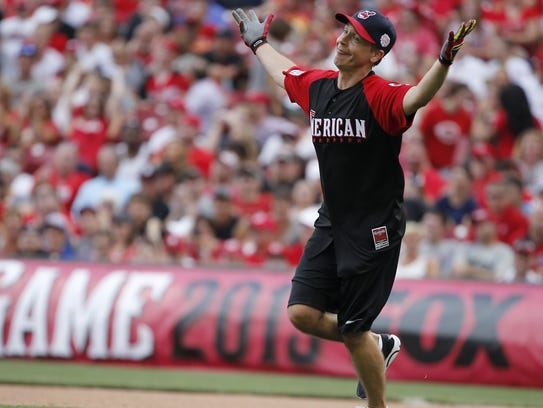 Actor Chad Lowe participated in the celebrity softball