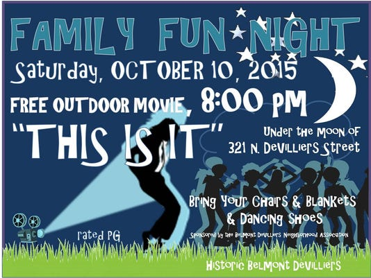 Family Fun Night and Movie Night in Belmont DeVilliers - October 10 2015