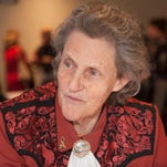 Temple Grandin, one of the world's most accomplished and well-known adults with autism, attends a meet and greet at the Enterprise Center at Burlington County College in Mount Laurel.