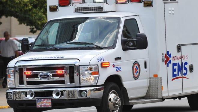 Ambulance responds to emergency call.