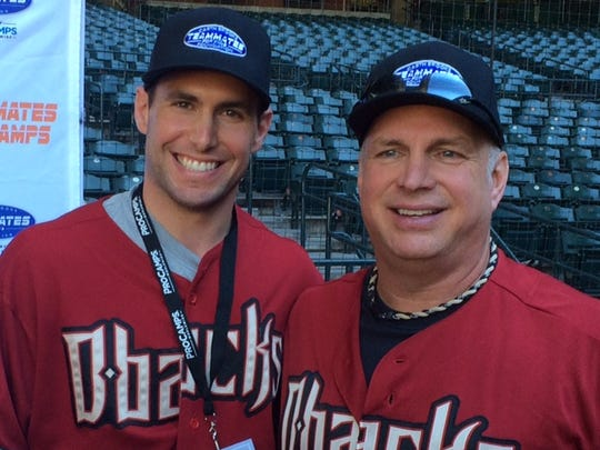 Paul Goldschmidt and Garth Brooks at Chase Field