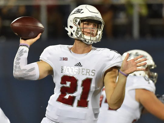 Richard Lagow threw for one touchdown and added a rushing score in his IU debut.