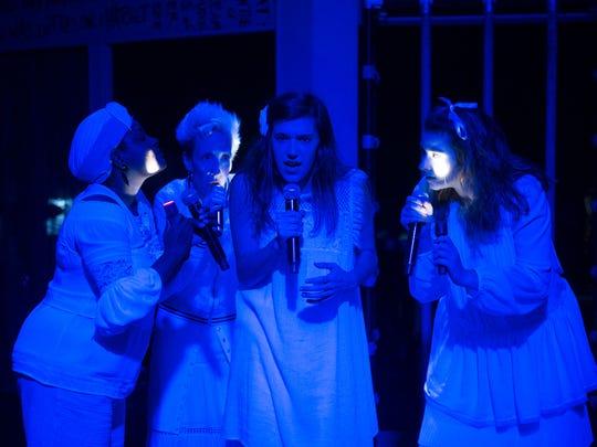 Kyleen Shaw, from left, Jill Knapp, Grace Tarves and