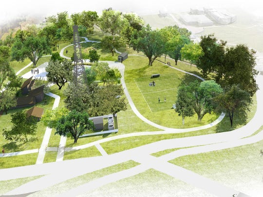 A bird's eye view of what Myers Park could look like.