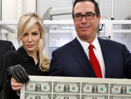 Treasury Secretary Steven Mnuchin and wife Louise Linton