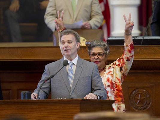 State Rep. Joe C. Pickett speaks to the Texas House in Austin between votes on his transportation bill.