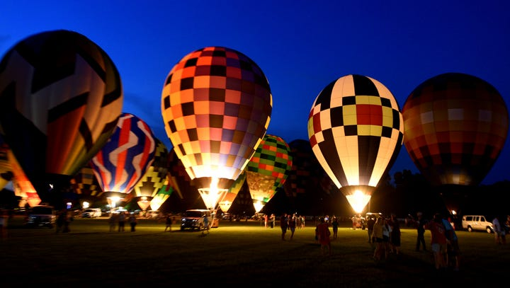 The 2018 Red River Balloon Rally Balloon Glow Friday