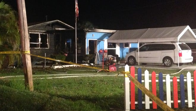 N. Fort myers house fire on Laurel Drive.
