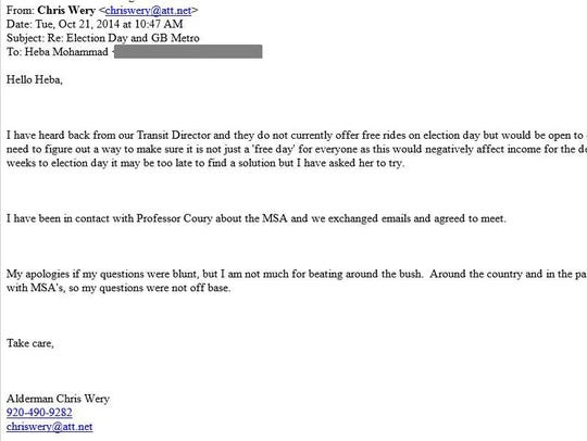 Chris Wery's second email included an apology.