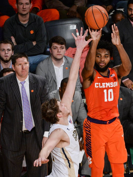 Clemson at Georgia Tech mens basketball