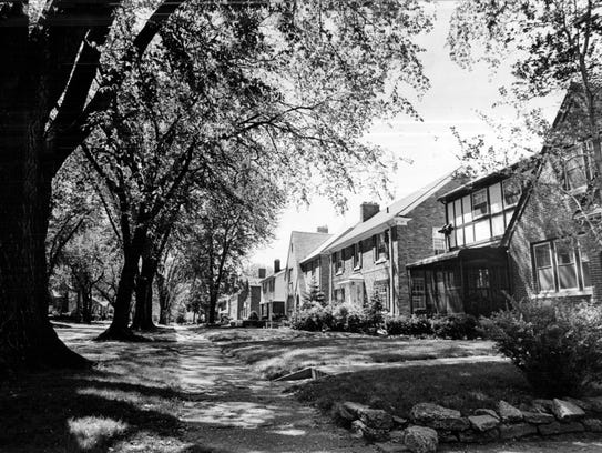 The Rosedale Park neighborhood in Detroit in October