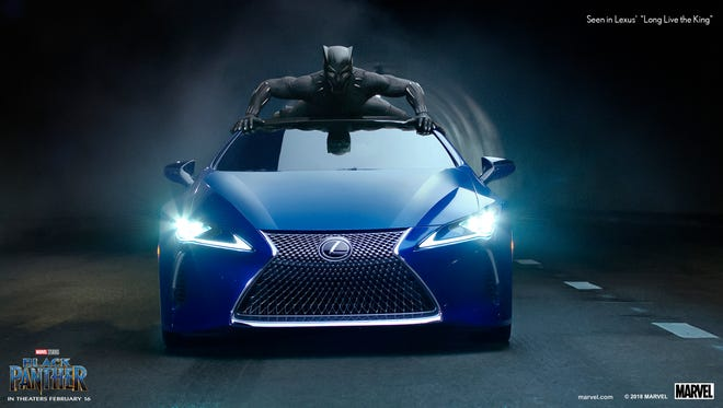 Black Panther on the LC 500 luxury performance coupe.