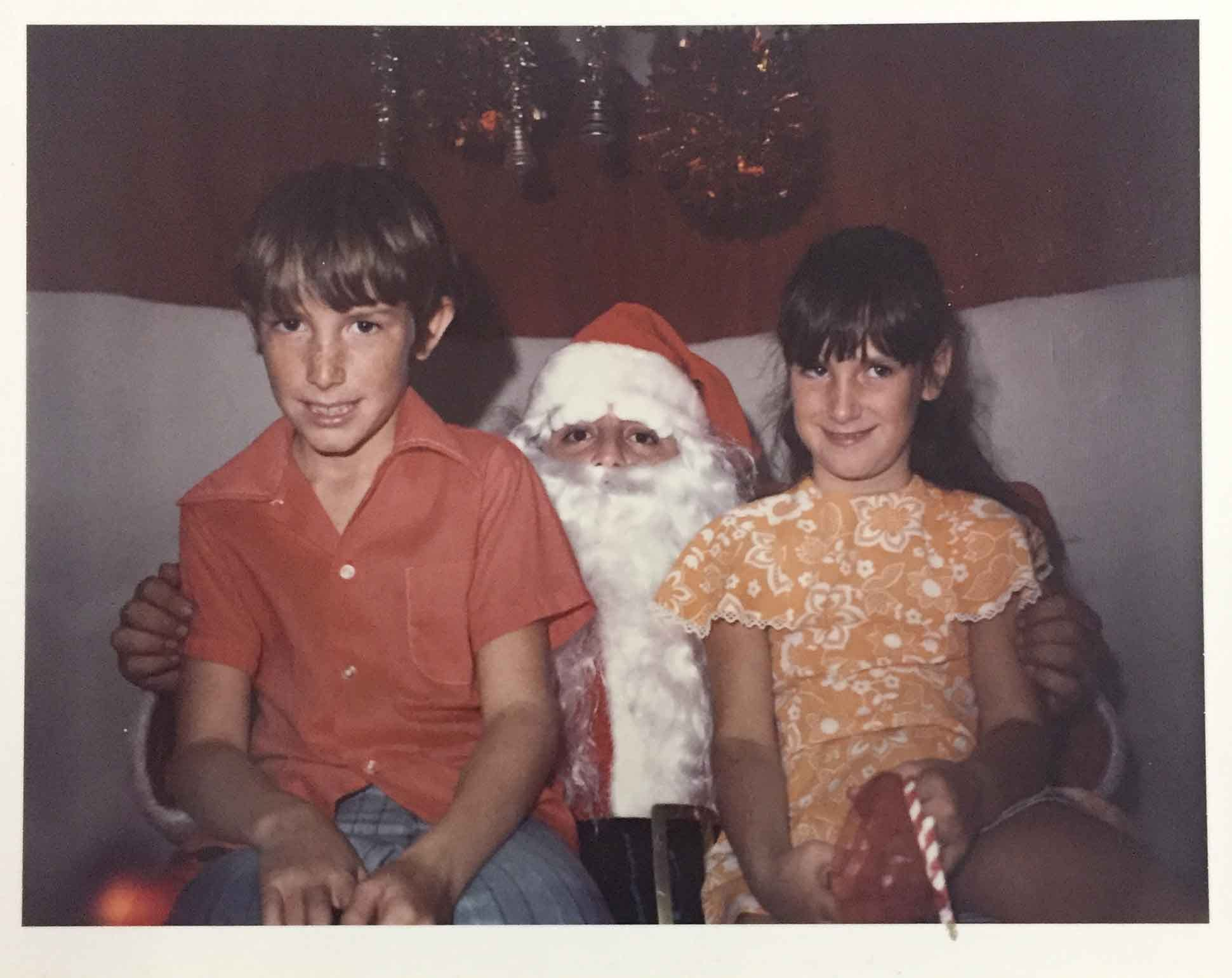 Karina Bland And Her Brother, Danny, With Santa Claus In 1972, Listing Off  What They Wanted From The Sears Christmas Wish Book. (Photo: Bland  Family/Special ...