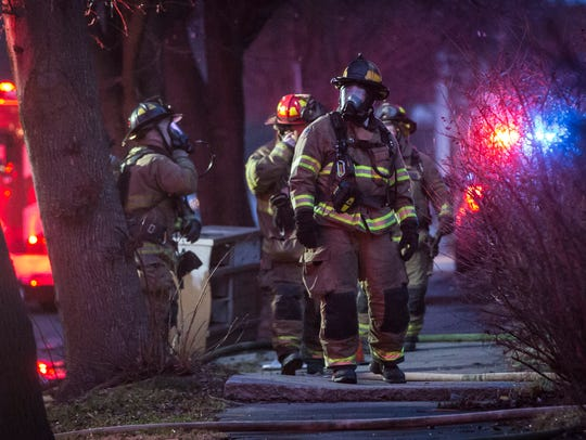 Firefighters from the Muncie Fire Department responded