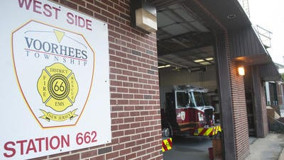 A file photo shows the Kirkwood firehouse in Voorhees, where a push is underway to dissolve the fire district.