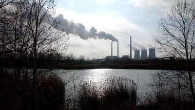 TVA's Paradise power plant in western Kentucky, where two coal units are scheduled for retirement.