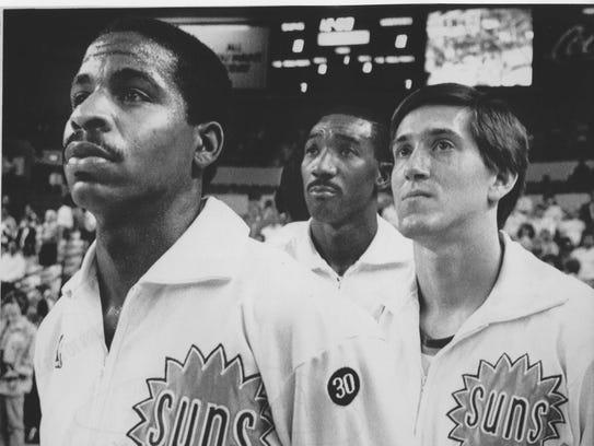 Phoenix Suns' Jay Humphries, Walter Davis and Jeff