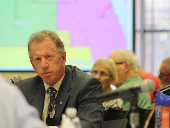 School board member Andy Ziegler, who represents Palm