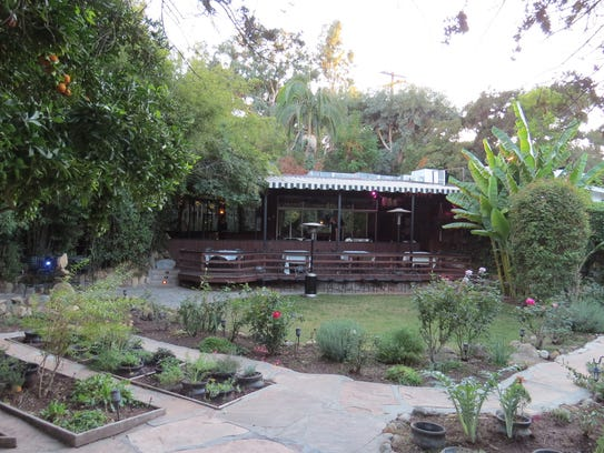A patio deck at the Ranch House restaurant in Ojai