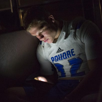 11:02 p.m. - Poudre High School football player JT