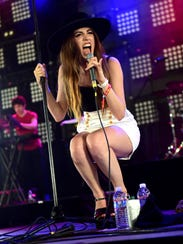 Ryn Weaver performs onstage during Coachella. She will