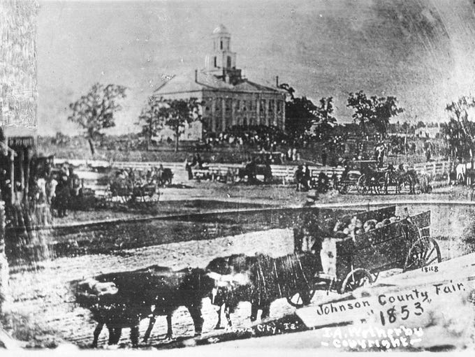 The original Iowa State Capitol in Iowa City is shown