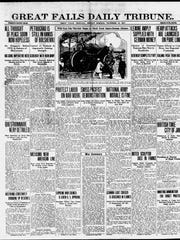 Front page of the Great Falls Daily Tribune on Monday, Nov. 19, 1917.
