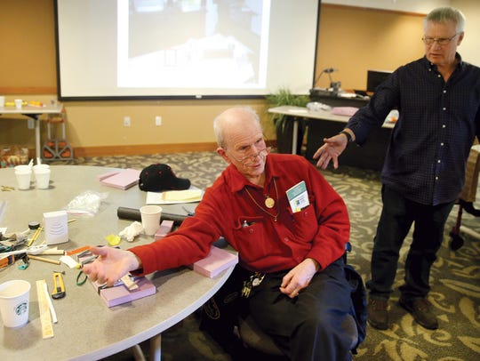 Charles O' Hara of Poulsbo demonstrates the mobility-impaired
