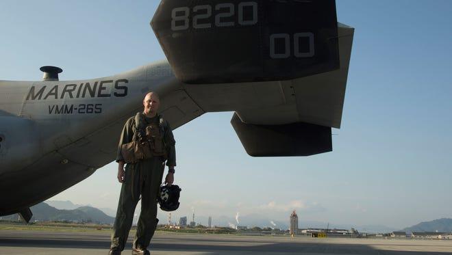 Lt. Col. Christopher Murray in  Iwakuni, Japan, on April 22.