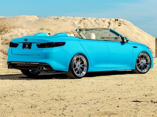 Kia Brought A Customized Version Of Its Optima Sedan