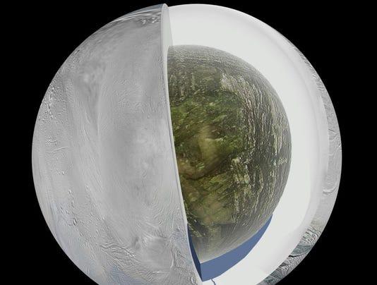Saturn moon interior