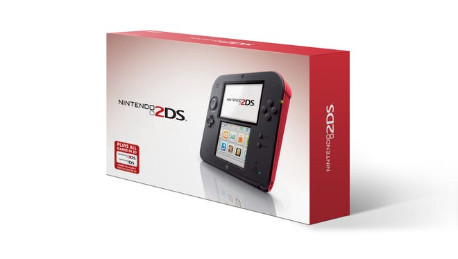 The Nintendo 2DS in box.