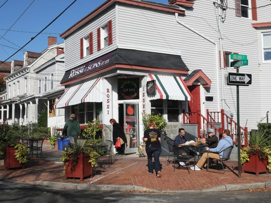 The exterior of Rossi & Sons Rosticceria in Poughkeepsie,