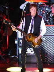Paul McCartney performs in New York City in February.