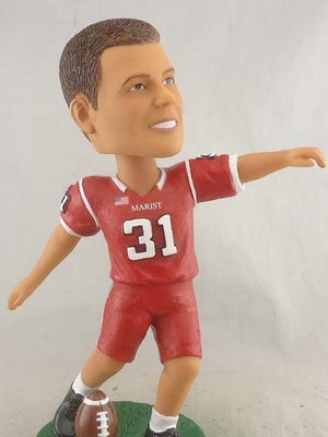 The first 1,000 fans in attendance at Oct. 29's Marist College football game will receive a bobblehead of 2013 graduate and Jacksonville Jaguars place-kicker Jason Myers.