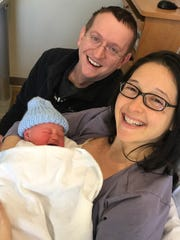 Salisbury couple Andy and Marta Trice gave birth to