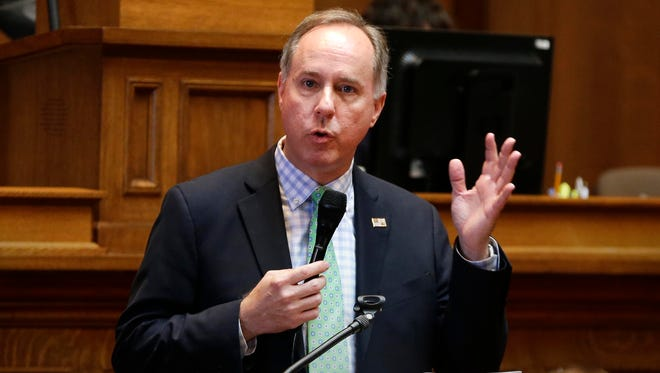 Assembly Speaker Robin Vos (R-Rochester) makes the case for state incentives for Foxconn on Thursday, Aug. 17, 2017.