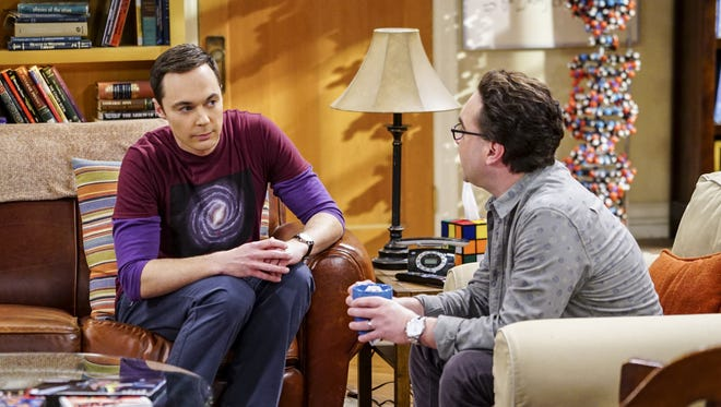 Sheldon (Jim Parsons), left, and Leonard (Johnny Galecki) will continue to entertain fans after CBS  Monday renewed 'The Big Bang Theory' for two seasons.