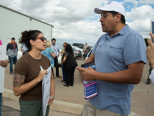 """Sarah Silva, left, one of the organizers of a """" Love"""