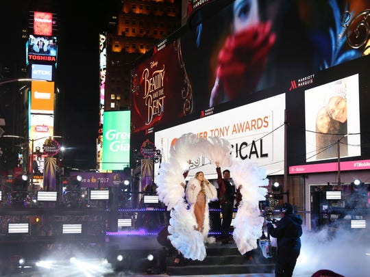 Mariah Carey performs at the New Year's Eve celebration