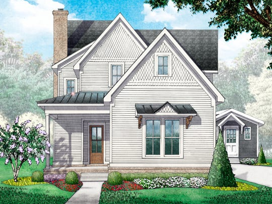This rendering shows the cottage built by Garden Gate Homes in downtown Franklin for the  Immerfalls.