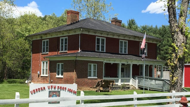 The historic 19th-century building that houses the Verona VFW Post is on the route of the Valley Veterans Bicycle Ride.