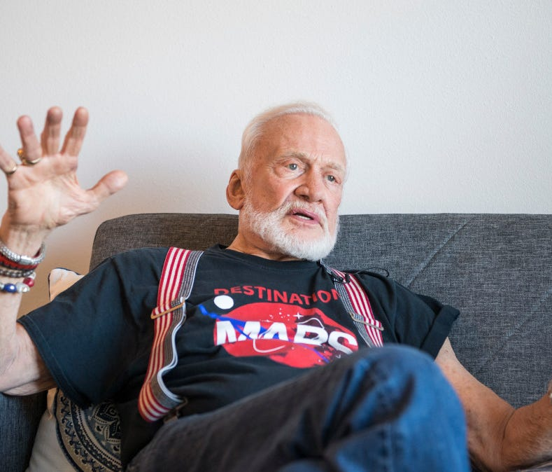 Astronaut Buzz Aldrin talks about his new VR experience
