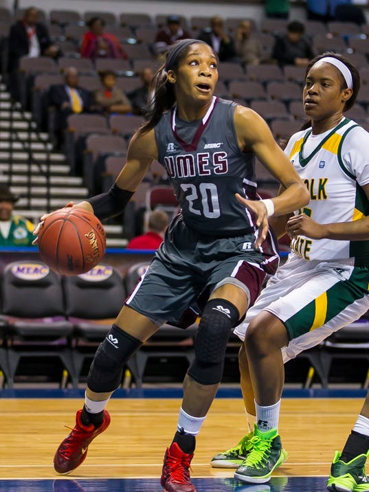 2015 MEAC Women's Basketball Tournament game between UMES and Norfolk State