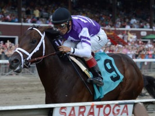 Competitive Edge won his debut by more than 10 lengths at Saratoga. Coglianese Photography/NYRA