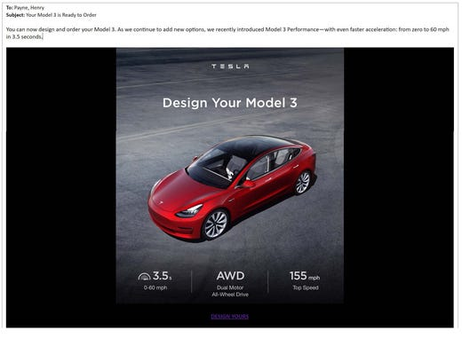 Payne: It's been a wild two years waiting for my Tesla Model 3