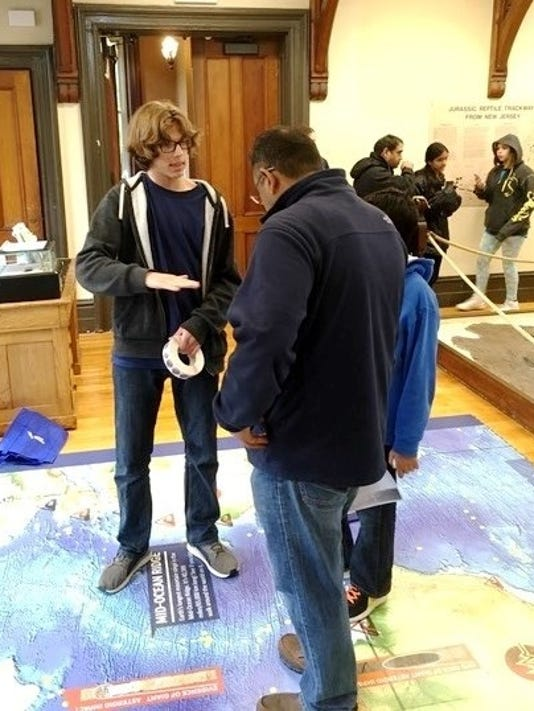Teens pitch in for Geology Open House PHOTO CAPTION