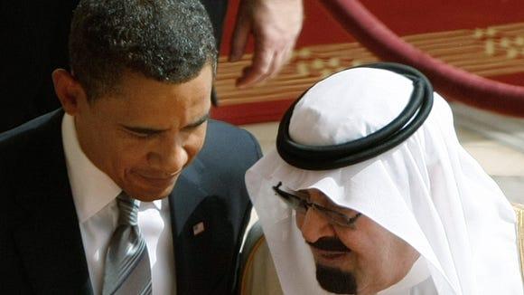 King Abdullah of Saudi Arabia and President Obama in